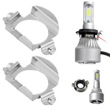 2x H7 Steel LED Headlight Bulbs Adapter Retainer Holder for Mercedes Benz Ford