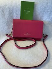 NEW Kate Spade Cameron Small Flap Crossbody Saffiano leather Bright Pink