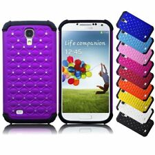 CRYSTAL DIAMOND BLING HYBRID IMPACT CASE SILICONE COVER LTE FOR GALAXY S4 i9500