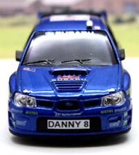 PERSONALISED PLATES Subaru Impreza Boys Dad Rally Toy Car Model Present Boxed