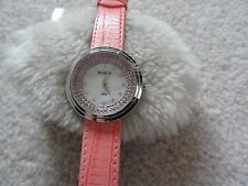 New Ladies Armitron Now Water Resistant Quartz Watch with a Leather Band