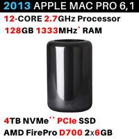 2013 Apple Mac Pro 2.7GHz 12-core / 128GB / 4TB / FirePro D700 2x 6GB - BTO