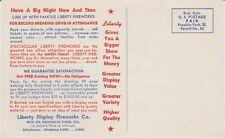 1955 Liberty Display Fireworks Brochure Franklin Park, Illinois/Near Chicago
