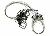 """12 Snares Wire Traps 3/32"""" x 60"""" Relaxing Washers Fox, Coyote, Wolf, Raccoon"""