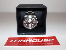 New Men Marc Jacobs MBM5050 LARRY Wrist Watch Silver Tone Black Dial Retail $300