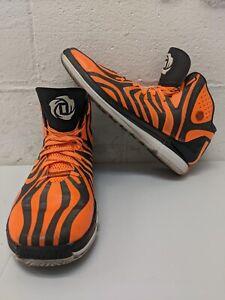 Adidas NBA ALL STAR D ROSE 4.5 Tiger CHICAGO'S FINEST Shoe Sz 14 Orange Black
