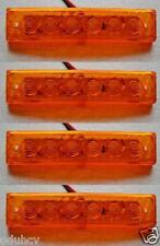 4 pezzi 12V 6 SMD LED LATERALI AMBRA LUCI PER IVECO man daf volvo scania FORD