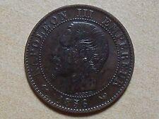 5 cts Napoleon III tête nue 1856 W
