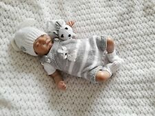More details for 💙 hand knitted baby set for reborn doll or newborn baby