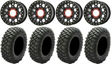 "Xs235 Grenade Black 15"" Wheels 32"" Crawler Xr Tires Yamaha Viking Wolverine"