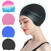 New Silicone Swimming Cap for Adult Long Hair Women Men Waterproof Hat Bathing O