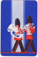 Playing Cards Single Card Old MARCHING BRASS BAND Music Trombone Tuba Art Design