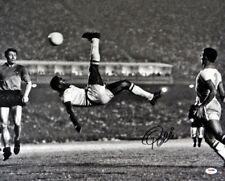 PELE AUTOGRAPHED SIGNED 16X20 PHOTO CBD BRAZIL BICYCLE KICK PSA/DNA 68885