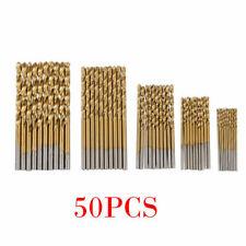 UK 50PCS Micro Round Shank Drill Bits Set Small Precision HSS Twist Drill Tool