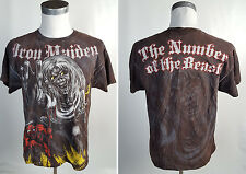 Vintage Iron Maiden M Number Of The Beast Distressed T Shirt Rock Band