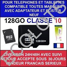 CARTE MEMOIRE MICRO SD 128 64 32 16 8 GO GB CLASSE 10 ADAPTATEUR LG SAMSUNG SONY