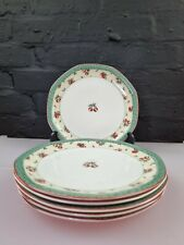 More details for 6 x royal doulton cherries and berries tc1226 salad plates 8.25