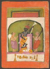 Antique Indian Miniature Painting - A Krishna Shrine Jaipur 18th - Hindu Rajput