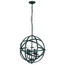 Orbit Matt Black 4 Light Spherical Ceiling Pendant Light Fitting Home Lighting