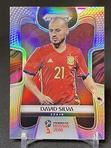 2018 Panini Prizm World Cup Soccer Prizm Silver #201 David Silva Spain
