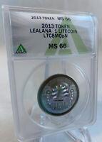 2013 LEA LANA 1 LTC -like Bit coin - Lite coin & Casascius Loaded & funded ANACS