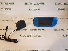 Blu ORIGINALE CONSOLE SONY PSP 3003 senza confezione completa di scheda di memoria 128GB