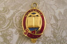superb quality enamel  wiltshire masonic oval item with a bible in the middle