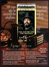 Alexander Graham Bell_THE SOUND AND THE SILENCE__Orig. 1993 Trade AD movie promo