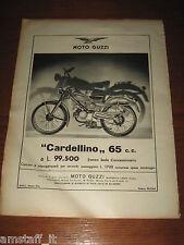 *157=MOTO GUZZI CARDELLINO 65 CC=ANNI '50=PUBBLICITA'=ADVERTISING=WERBUNG=