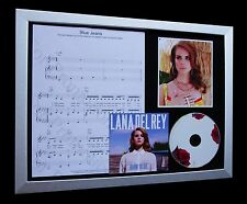 LANA DEL REY Blue Jeans LIMITED CD MUSIC FRAMED DISPLAY+EXPRESS GLOBAL SHIPPING