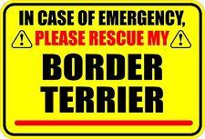 IN CASE OF EMERGENCY RESCUE MY BOSTON TERRIER STICKER