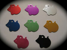 Mouse Shape Aluminium Coloured Pet ID Name Tag Cat Dog FREE ENGRAVING & POSTAGE