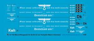Peddinghaus-Decals 1/35 1104 Decal for Br 52 Trumpeter