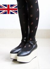 Cute Red Bow Coffee Color Kitten Embroidery 80D Tights TG004-04-2016