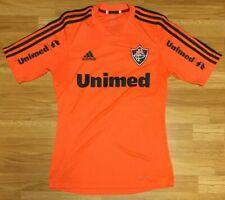 Adidas Fluminense Brazil Unimed Neon Orange Soccer Jersey Size Small