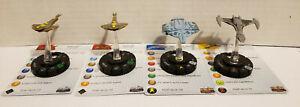 Star Trek Heroclix Tactics 34 ship lot With Cards