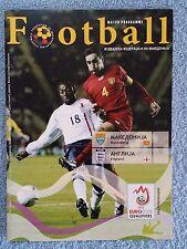 2006 - MACEDONIA v ENGLAND PROGRAMME - EURO 2008 QUALIFIER