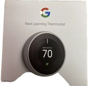 Nest 3rd Generation Learning Stainless Steel Programmable Thermostat with Base