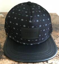c5479823f0a COACH FLAT BRIM BLACK COLOR BLOCK STAR DOT CAP HAT  86475 NWT