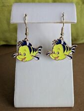Little Mermaid Flounder dangle earrings