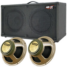 2x12 Guitar Speaker Cabinet W/Celestion Greenback Speakers Charcoal black Tolex