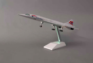 British Concorde with LED Cabin Lights Large Display Plane Model  Airplane 43cm