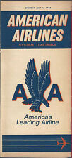 American Airlines system timetable 7/1/62 [6104]