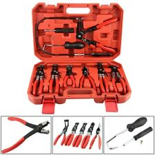 Fuel Oil Water Pipe Install Tool Flexible Lock Hose Clip Clamp Plier Kit Set hh0