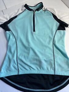 Specialized RBX Men's Cycling Jersey Semi Form Fit Deflect UV Medium 1/4 Zip