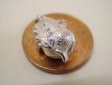 STERLING SILVER ACORN WITH LEAF CHARM OPENS TO SQUIRREL