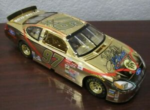 Gold Kurt Busch #97 100 Years of Ford Signed Autographed 1:24 Diecast - NASCAR