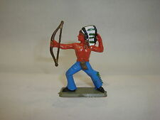Figurine ancienne Starlux Nestlé : far west ref 35 indien avec arc et coiffe