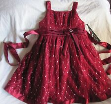Love Burgandy Red Metallic Glittery Sequined Special Occasion Dress Size 6 New