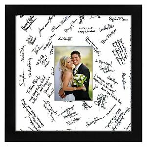 14x14 Wedding Signature Picture Frame Display Pictures 5x7 or 14x14 Without Mat